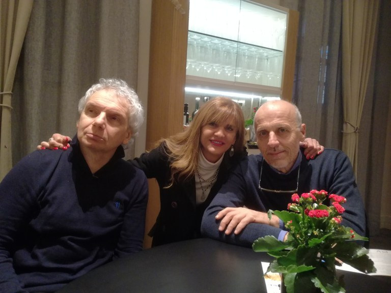 Gianfranco Bettin con Marco Paolini e Franca Ottoboni