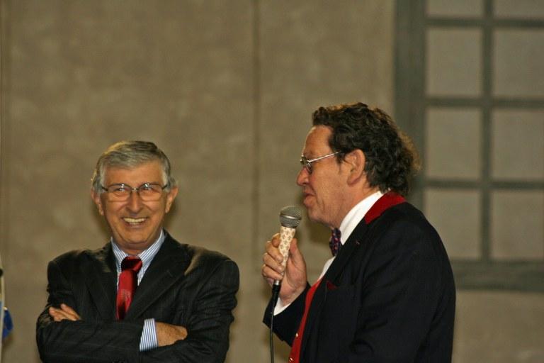 Philippe Daverio con Ermanno Paccagnini