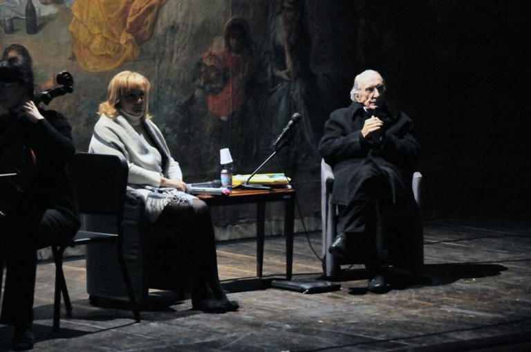 Don Gallo con Bianca Garavelli