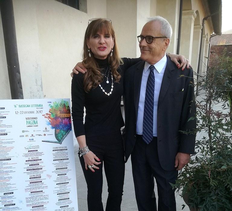 Francesco Merlo con Franca Ottoboni