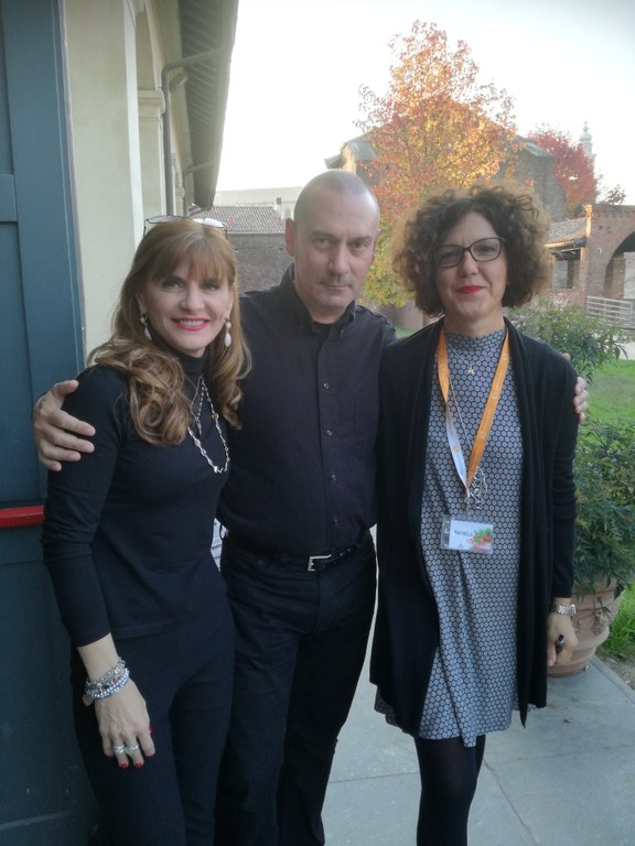 Raul Montanari con Franca Ottoboni e Raffaella Barbero