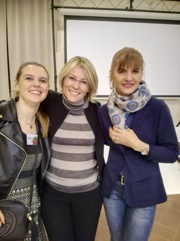 Sara Rattaro con Martina Azzolari e Franca Ottoboni