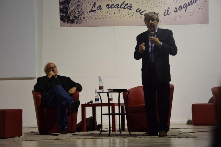 Stefano Benni con Ermanno Paccagnini