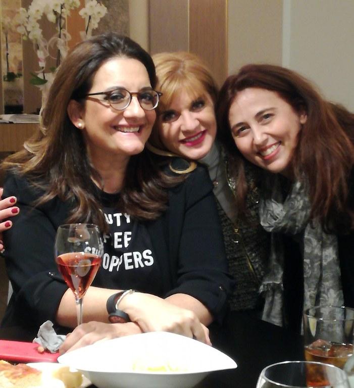 Catena Fiorello con Franca Ottoboni e Alessandra Tedesco