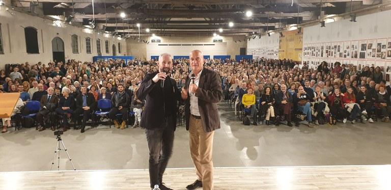Claudio Bisio, Federico Baccomo e il grande pubblico della Rassegna Letteraria Vigevano