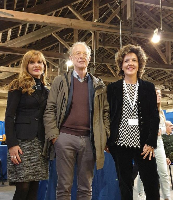 Gherardo Colombo con Franca Ottoboni e Raffaella Barbero
