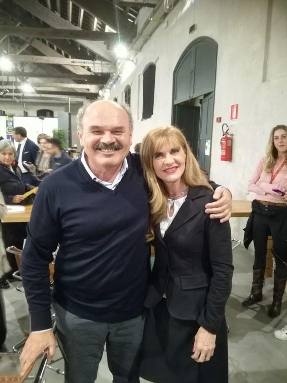 Oscar Farinetti con Franca Ottoboni