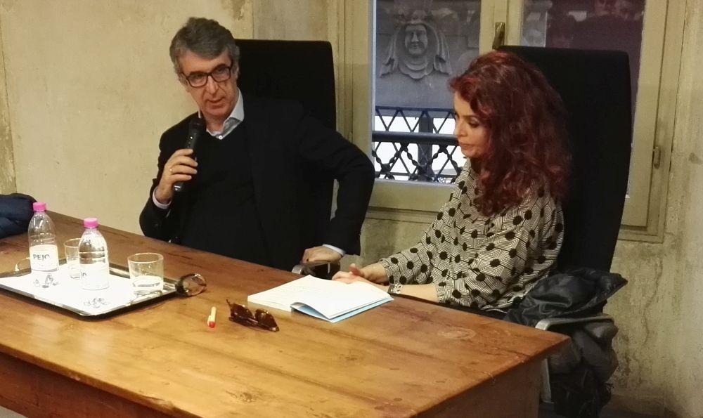 Gabriele Romagnoli con Paola Saluzzi